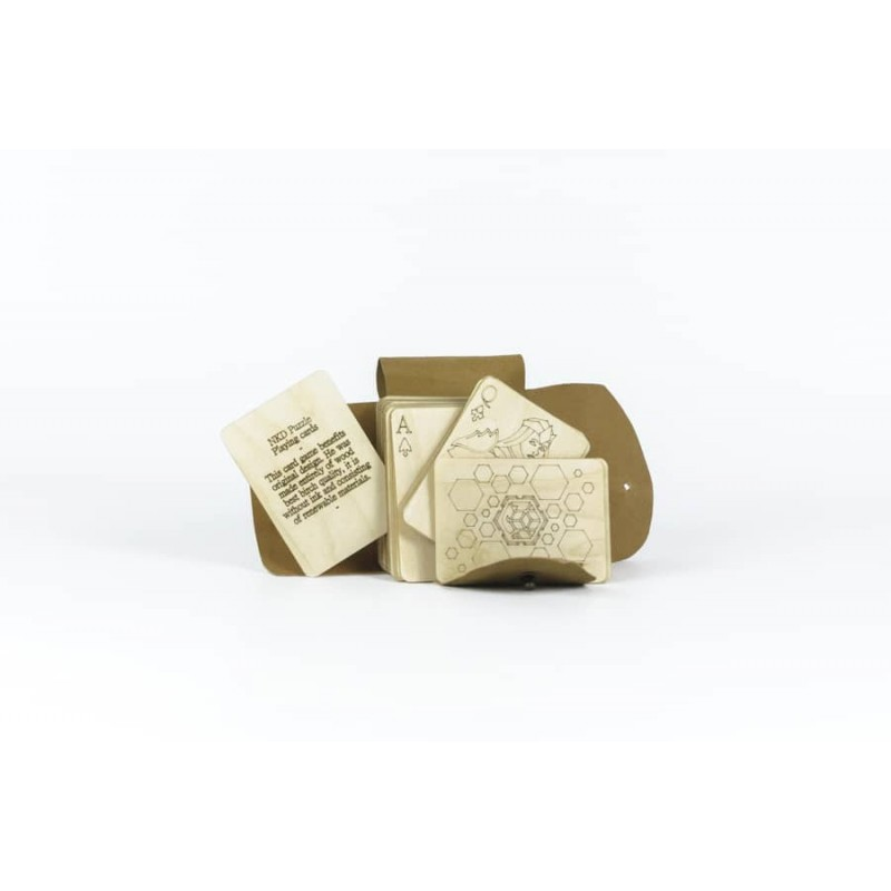 Birch wood card game nkd puzzle - 5